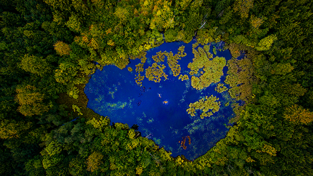 Azurite pond